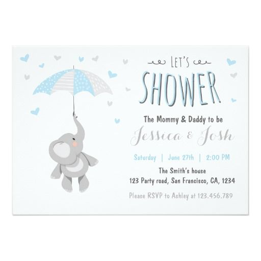 Elephant Little Peanut Baby Shower Invitation Zazzle Com Mit