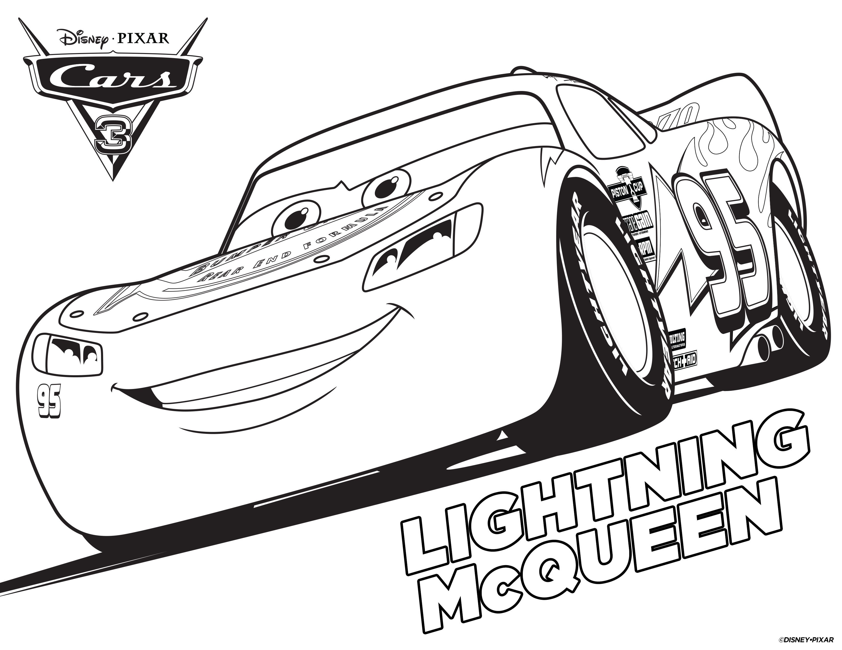Lightning Mcqueen Coloring Pages Race Car Coloring Pages Cars