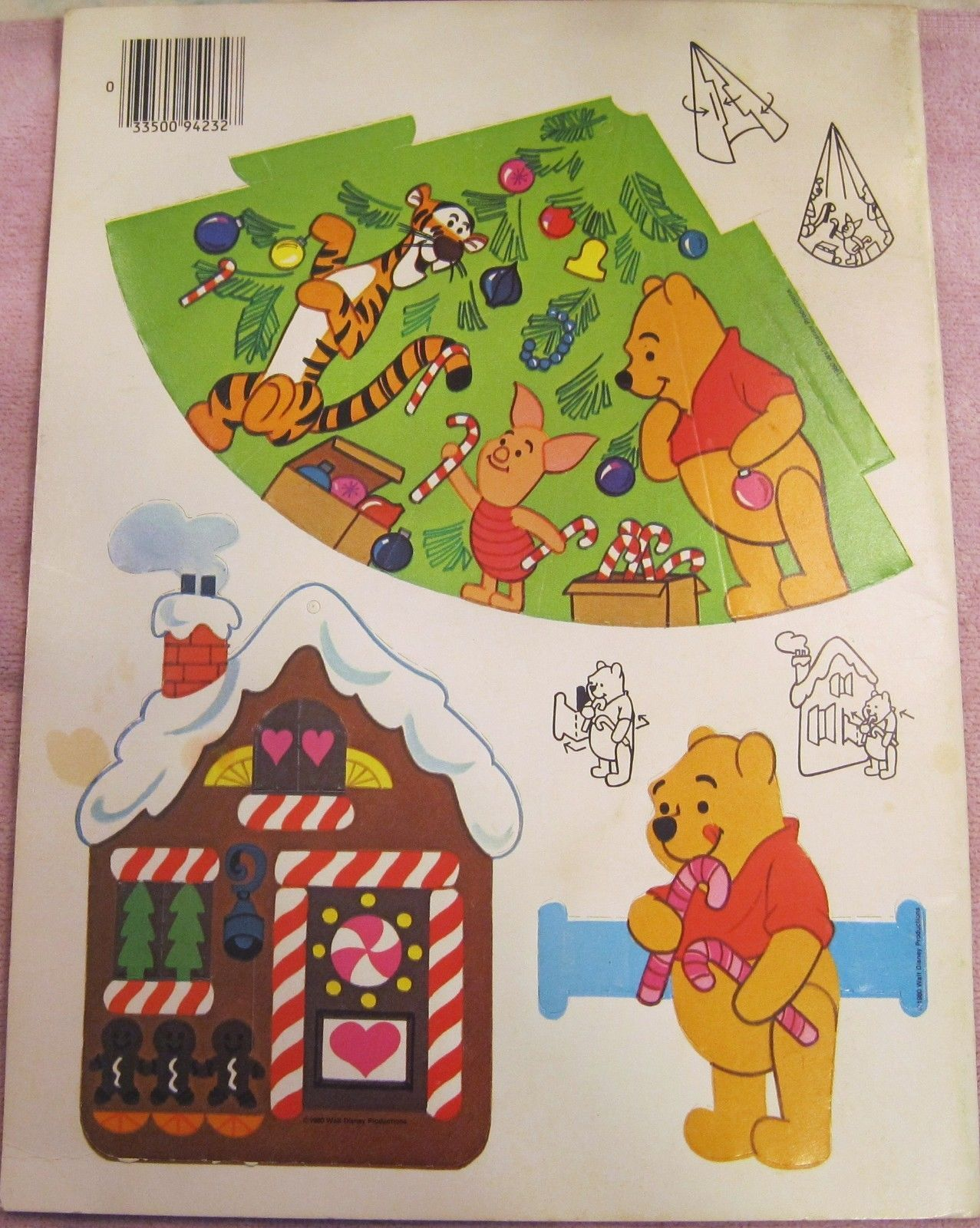 Disney Winnie Pooh Decorate Christmas Tree Punch Out Paper Ornaments