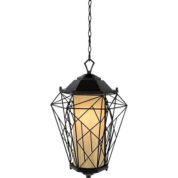 """Varaluz Wright Stuff 12 1/4""""W Black Outdoor Hanging Light ($441) ❤ liked on Polyvore featuring home, outdoors, outdoor lighting, black, outdoor lanterns, outside shade, outdoor shade and black lantern"""