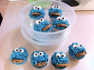 Cookie Monster Cupcakes! How to make them