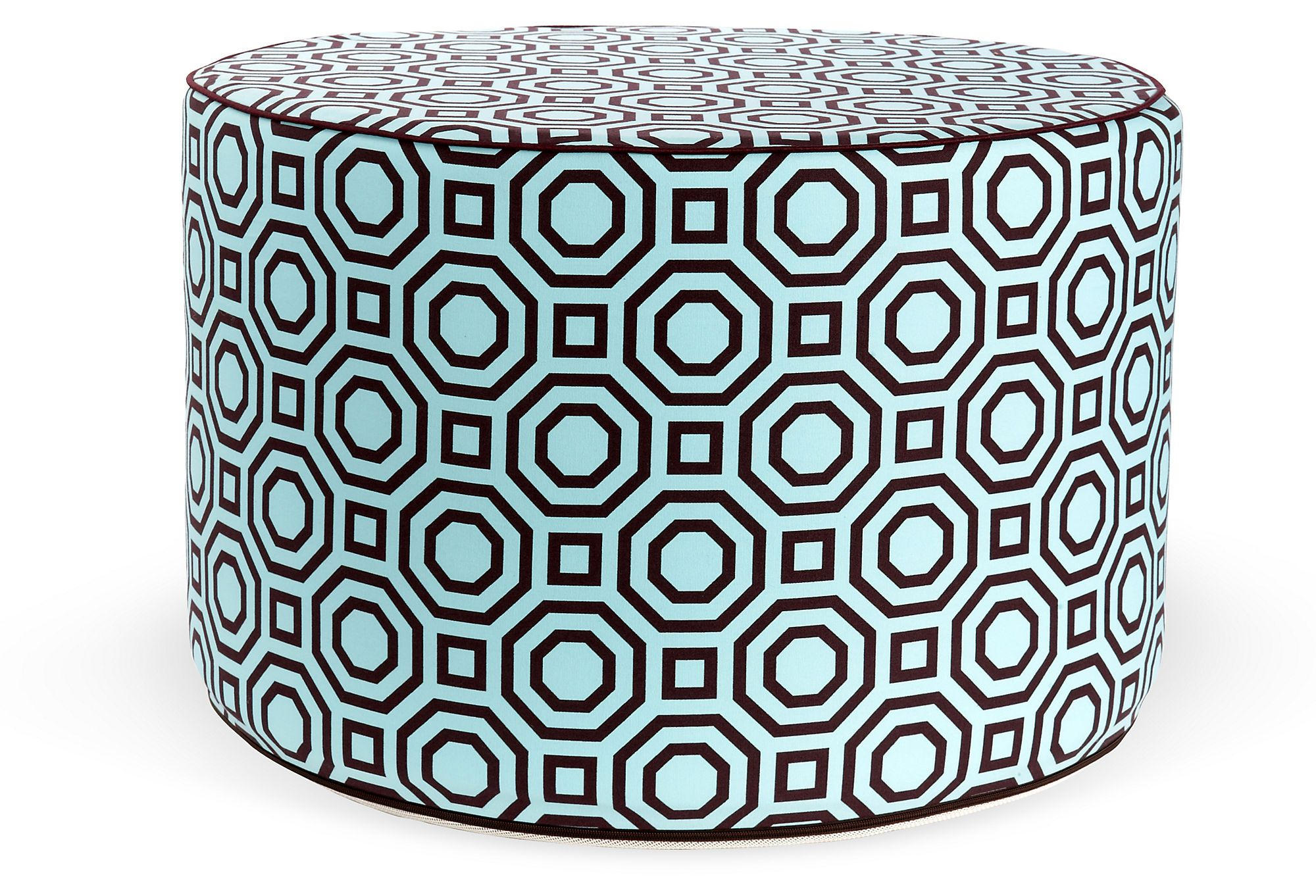 One Kings Lane -- Labyrinth Round Pouf, Turquoise   (16) Design ...