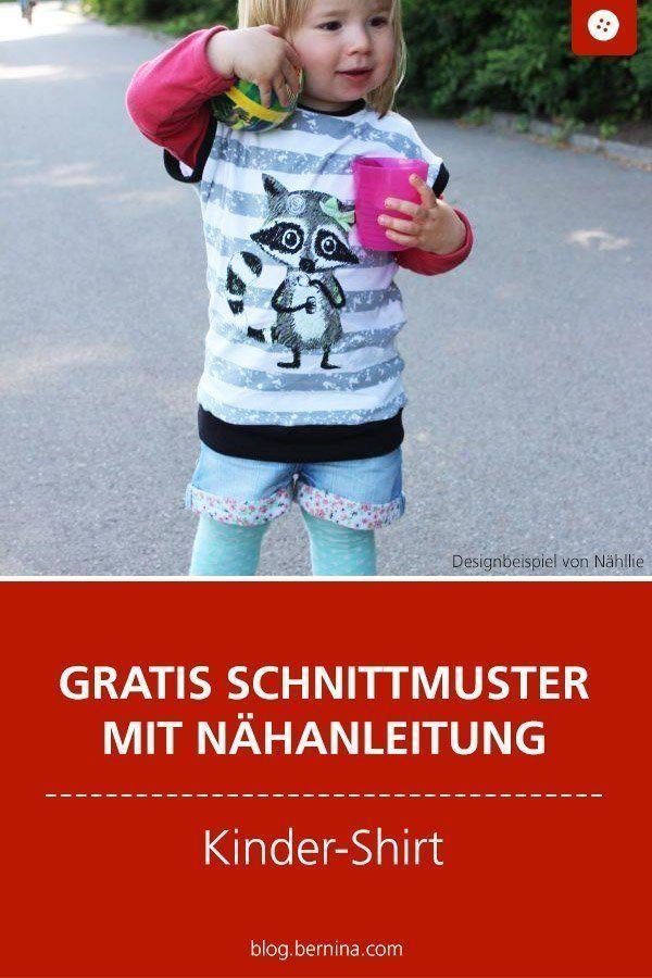 Nähanleitung mit Schnittmuster für ein Basic-Kindershirt – Kind Shirt – Ideas …