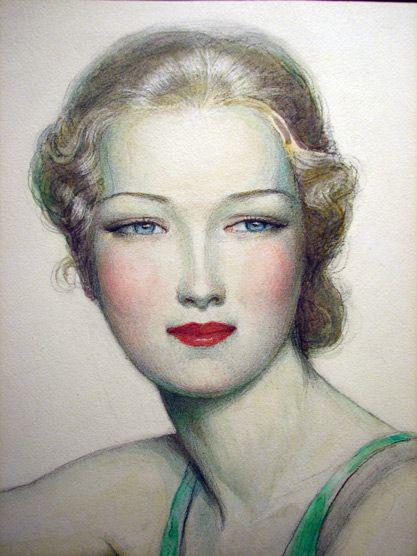 An Exotic Benda Girl Glamour Beauty  Artist: W.T. Benda  Date: 1928  Medium: Watercolor & Graphite on Illustration Board