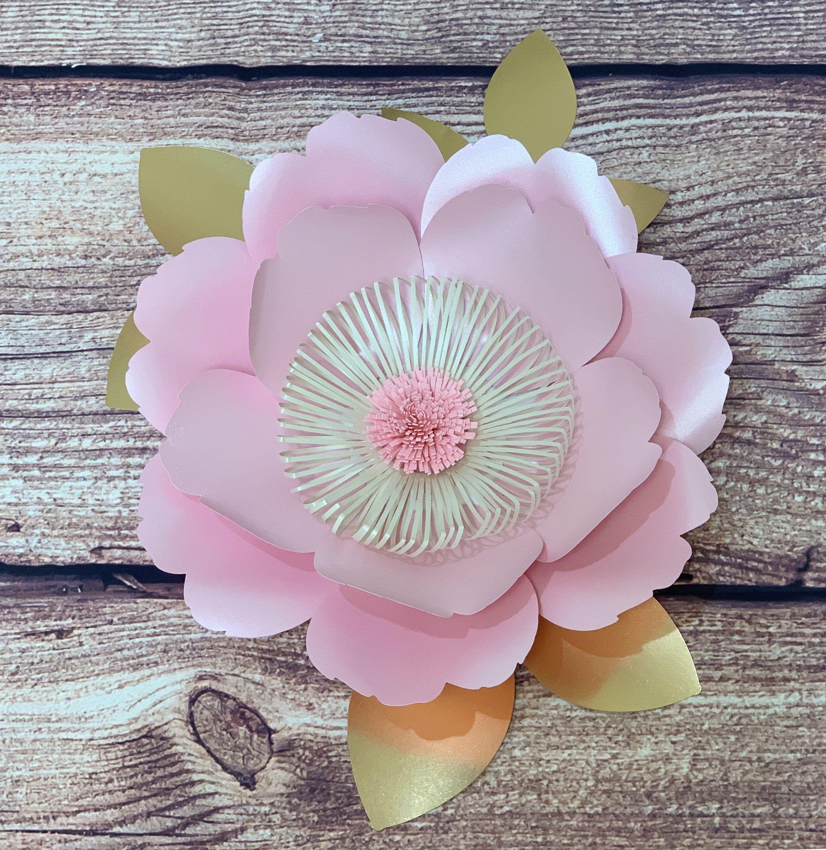 Pink Wild Rose SVG Flower Pink Paper back drop Baby shower baby Nursery Paper flower Wedding Paper flower Big Flower SVG