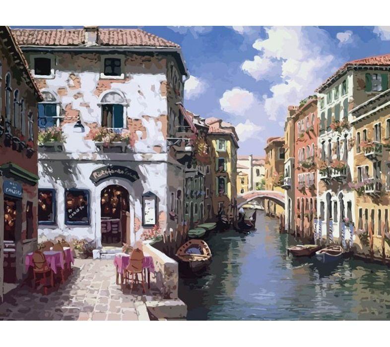 "Раскраска по номерам Белоснежка ""Венецианские дома ..."