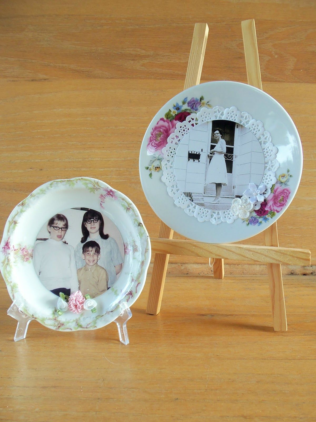 tutorial: use china plates as frames-----------live. love. scrap.