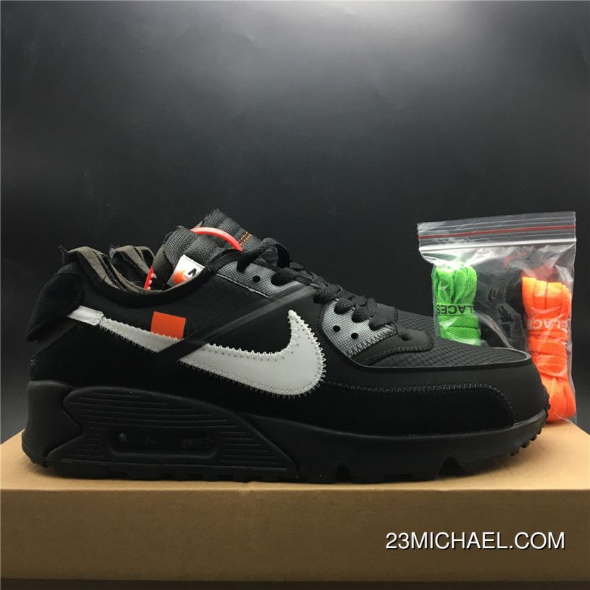 WomenMen Best Off White Nike Air Max 90 Black