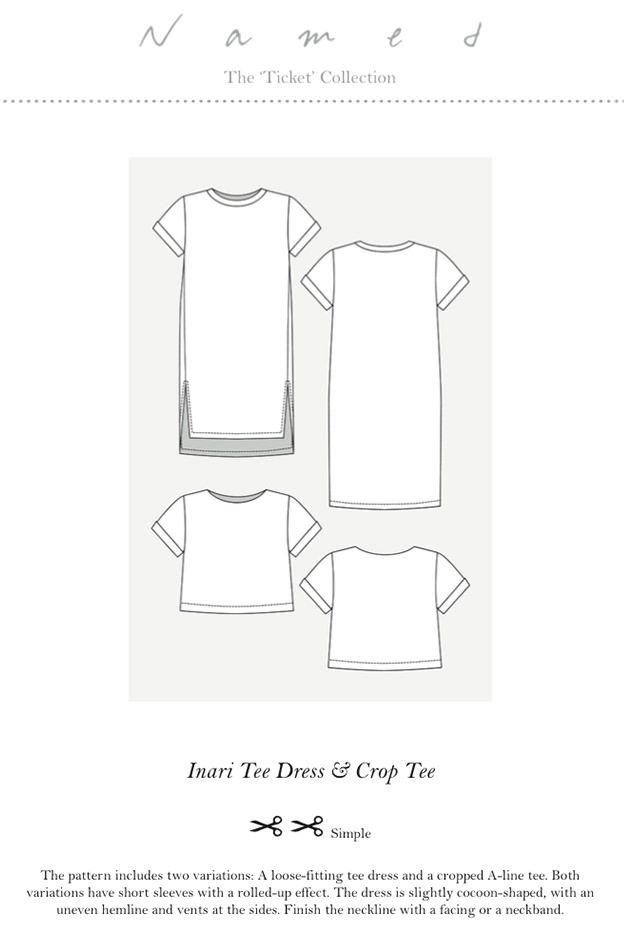 Inari Tee Sewing Pattern by Named Clothing   Nähanleitung, Oberteile ...