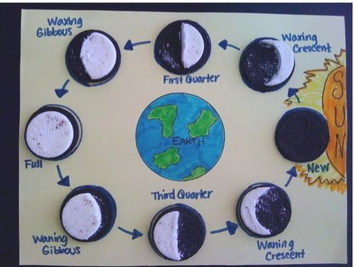 I love this homeschool activitiy Oreo cookies to learn the moon – Oreo Moon Phases Worksheet