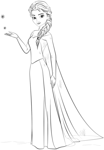 Elsa From The Frozen Coloring Page Malvorlage Prinzessin Disney