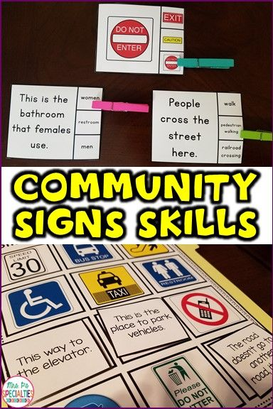 Community Signs Skill Pack Leveled For Special Education Life Skills Autism With Images Life Skills Special Education Teaching Life Skills Life Skills Classroom