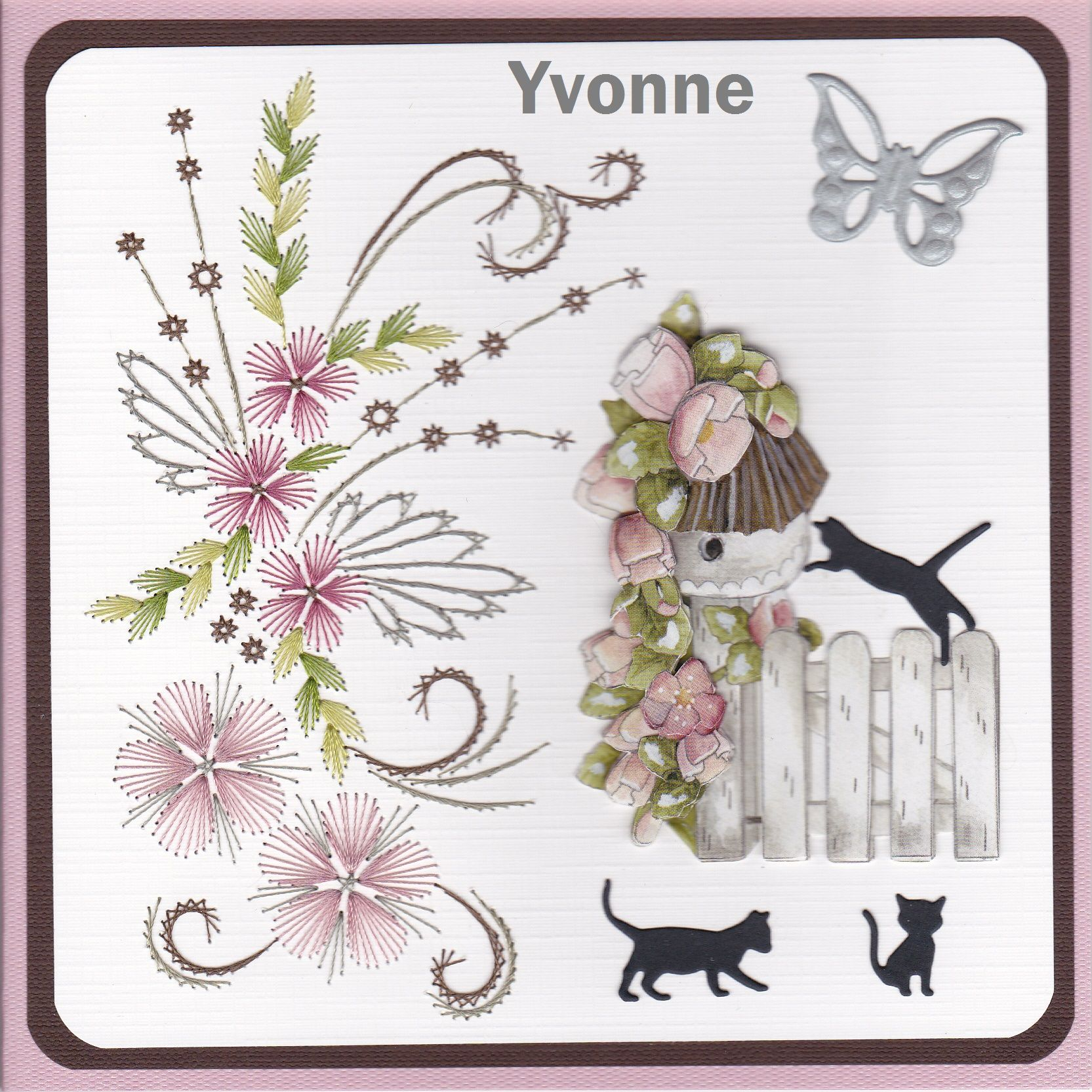 YB 311 Vogelhuisje | fonal&papír | Pinterest | Tarjetas, Papel y Bordado