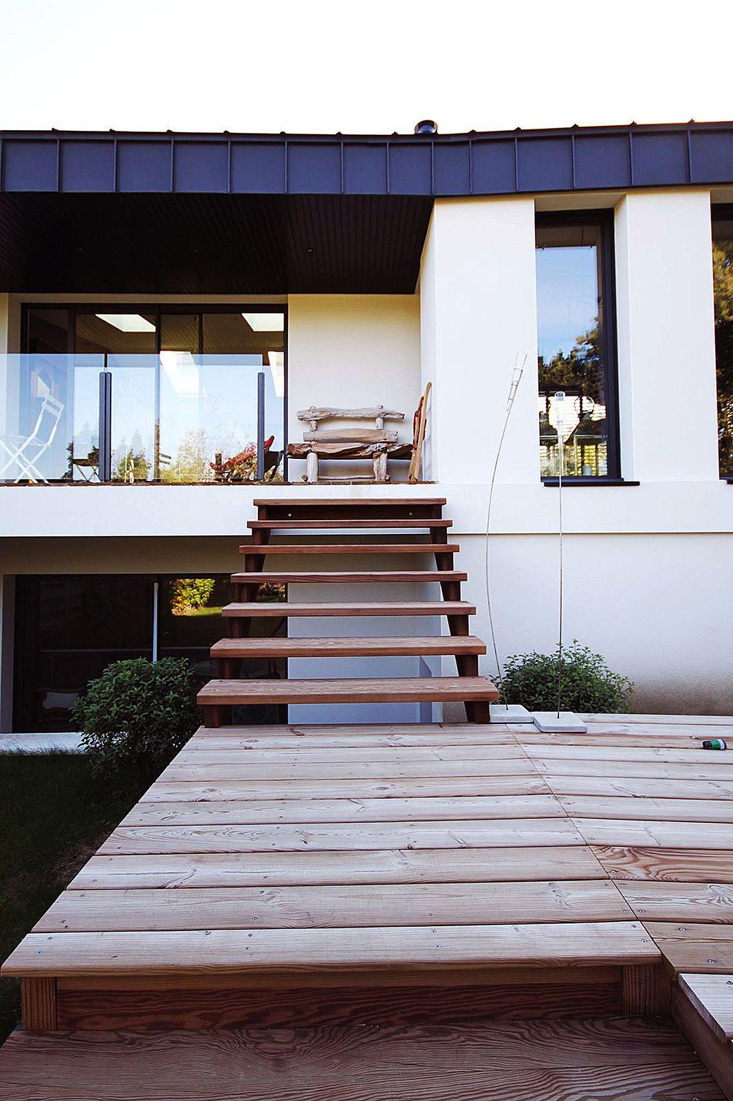 Maison bl extension contemporaine d 39 une maison bretonne des ann es 30 vannes morbihan - Maison des annees 30 ...
