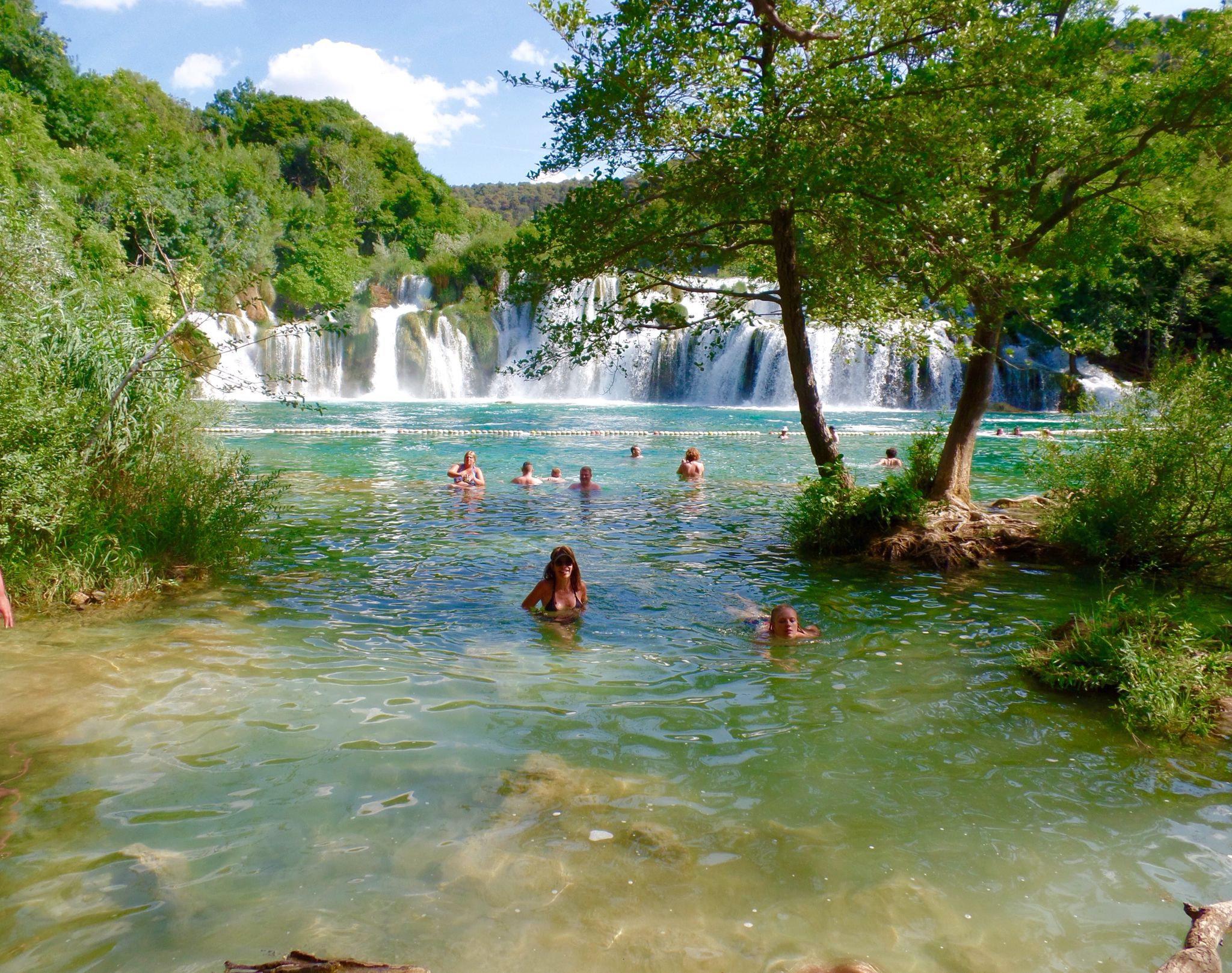 Swimming at Krka Falls in Croatia.... Such a beautiful place.