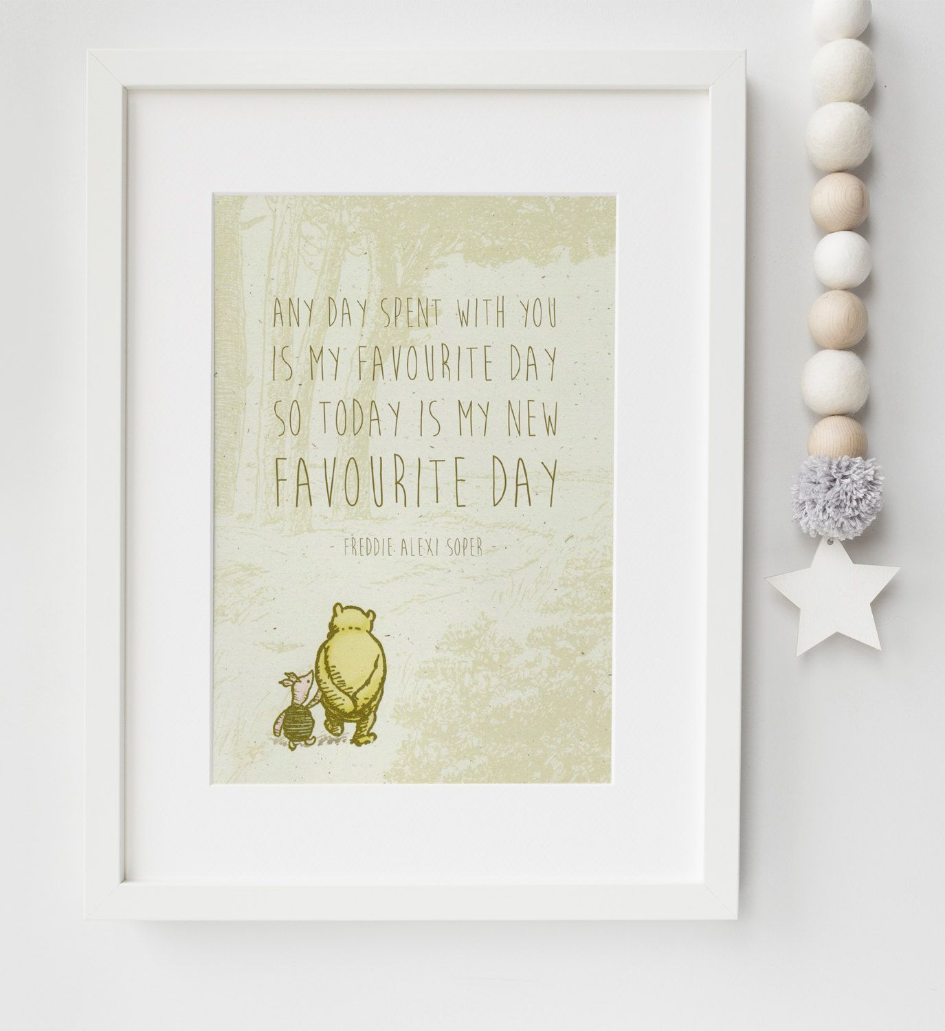 Personalised New Baby Child Boy Girl Winnie The Pooh Quote