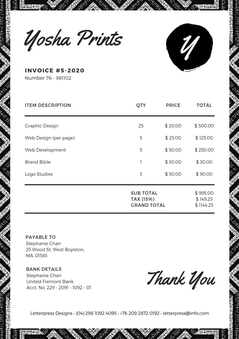 Invoice Design 50 Examples To Inspire You Learn Invoice Design Invoice Design Template Modern Business Cards