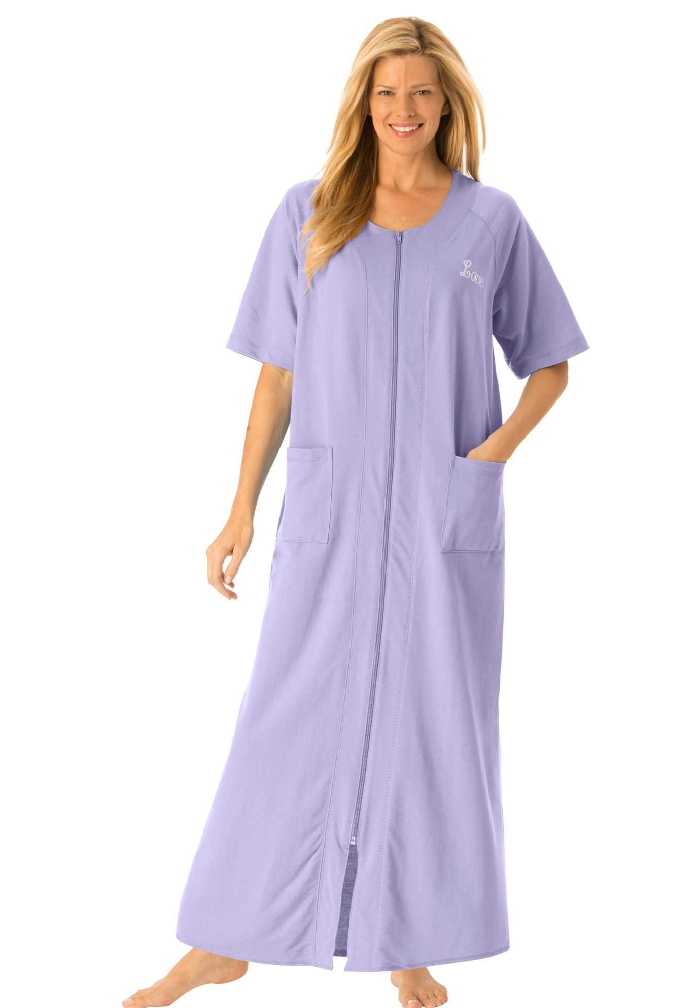 6a8b1d5ac61 Shop for Personalized Long French Terry Robe by Dreams   Co.® and more Plus  Size Robes   Slippers from Woman Within.