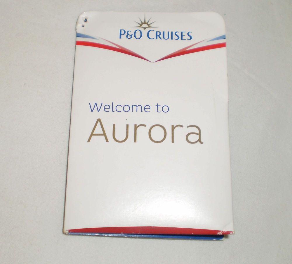 P O Cruises Aurora Cruise Ship Key Card Holder Ship Map Infomation  Collectable 247bb9cbc