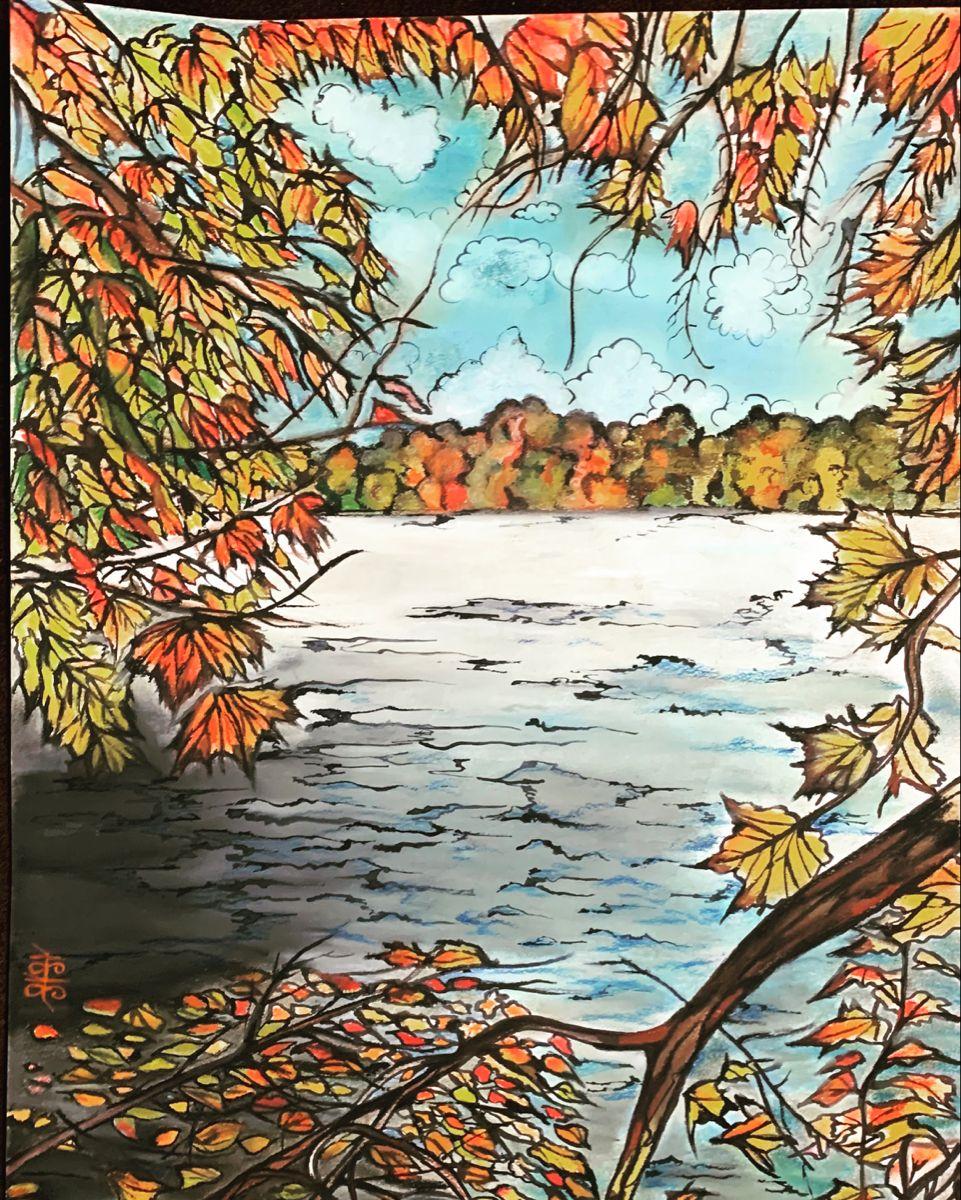 #fall #fallpainting #fallcollection #fallcolours #art #artistsoninstagram #artsale