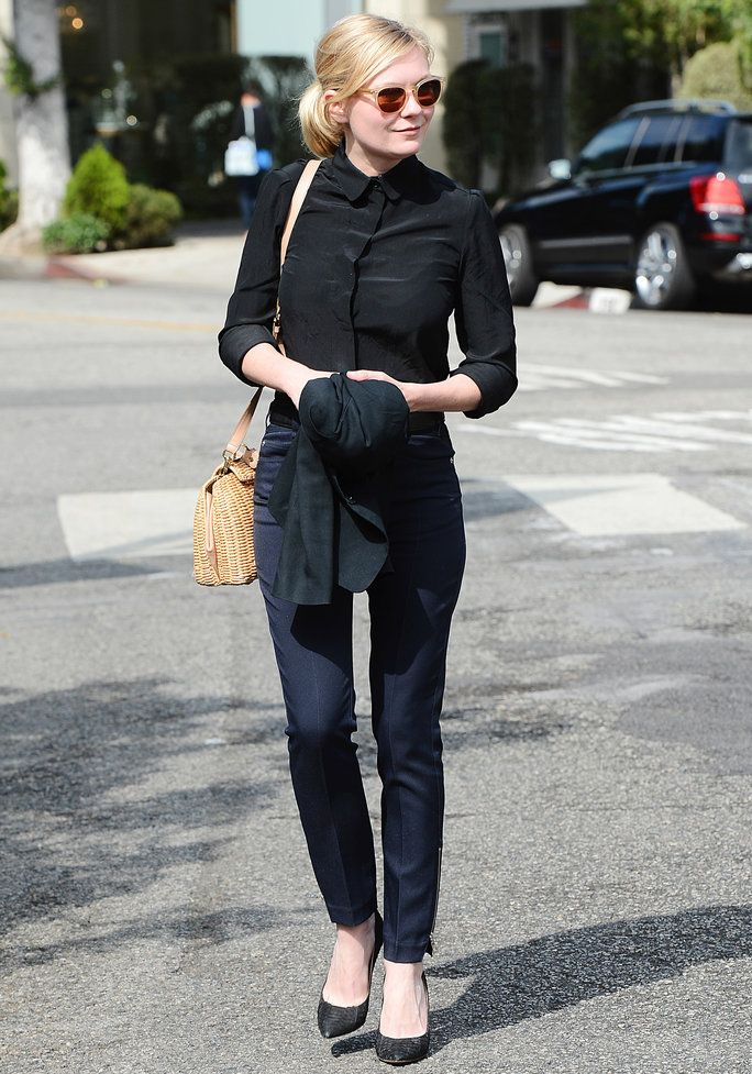 1f30fdee6c460 Kirsten Dunst Steps into Fall with a Polished Look | Modest Fashion ...