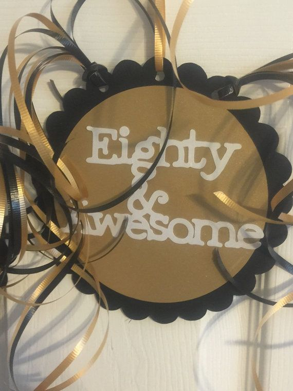 80th Birthday Decorations Danglers 80 and Awesome 80th birthday decorations, 80 birthday and ...