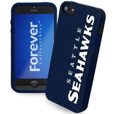 Seattle Seahawks Silicone iPhone 5 Cover - College Navy