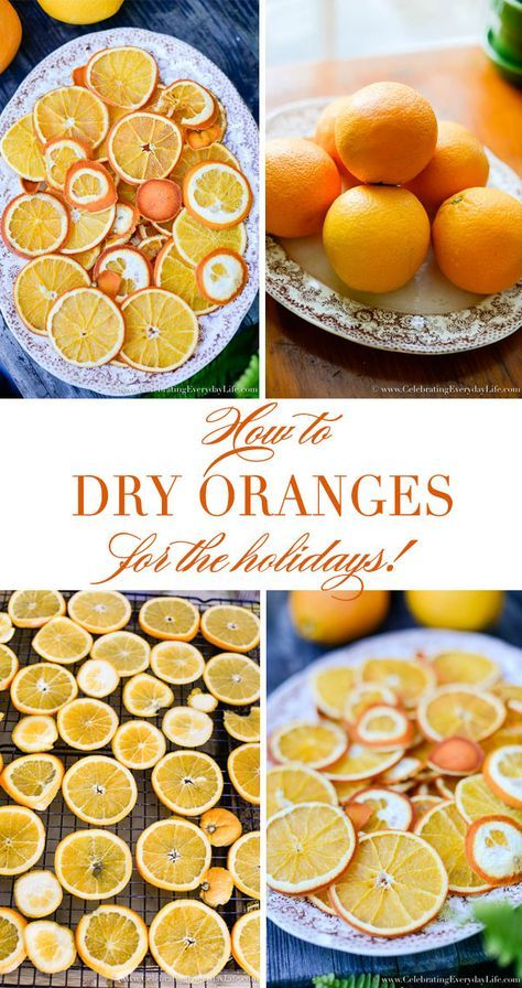 How to Dry Orange Slices | Natural christmas decor ...