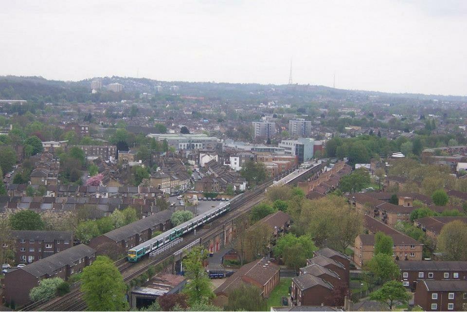 The Railway Line near Queens Road Peckham Train Station South East London England