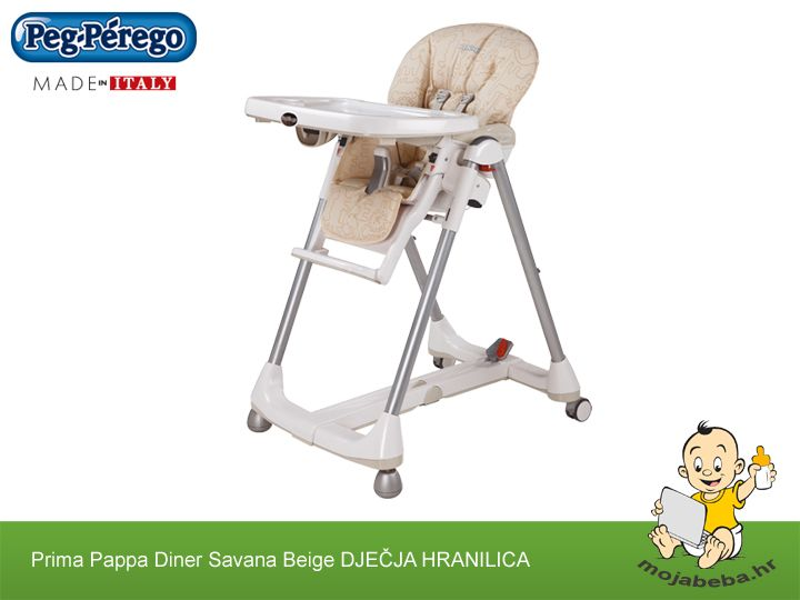 Peg Perego Prima Pappa Diner Udobna Djecja Hranilica Folding High Chair Baby High Chair Highchair Cover