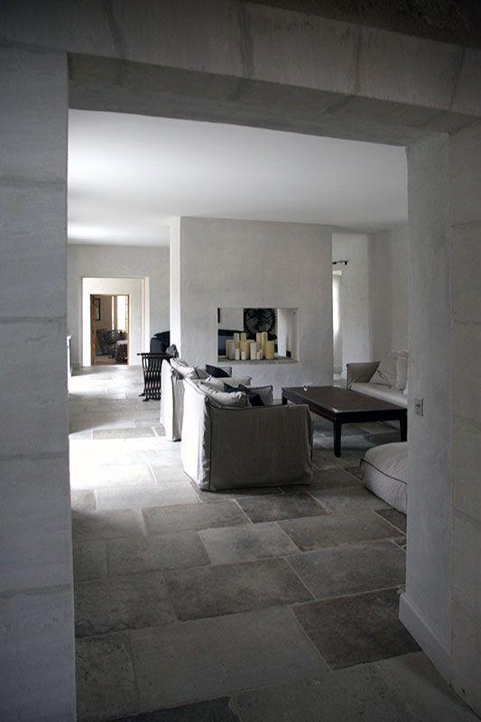 Salon Et Cheminee Provence Bonnieux Luberon Bosc Architectes Sophie Bosc Decoratrice Huis Interieur Vloeren Interieur