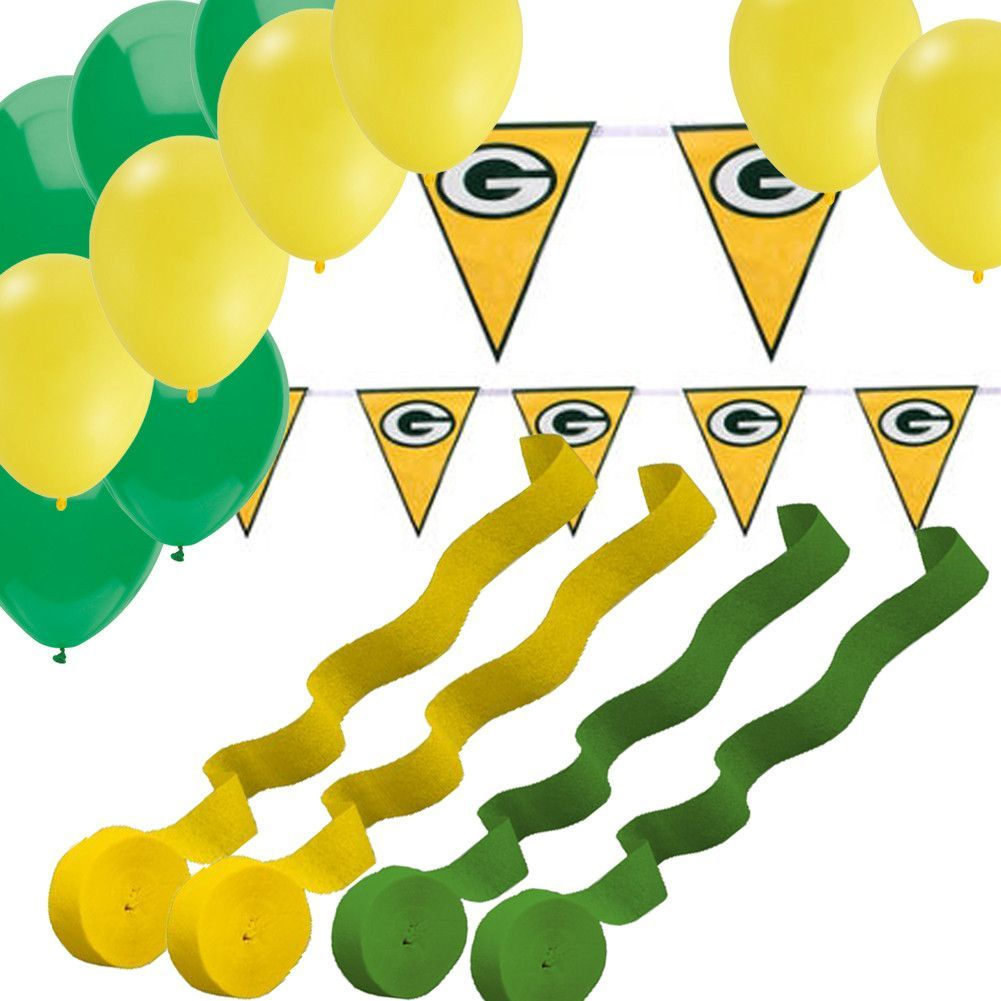 Nfl licensed greenbay packers pennant banner balloons streamers
