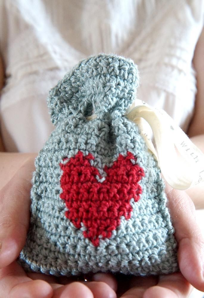 Valentine S Day Gift Bag Free Crochet Free Patterns Charts