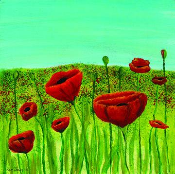Poppies Kathryn Jolly Heartland Union Sc Heartland Heartofart Union Hcrmanorcare Art Boards Artwork