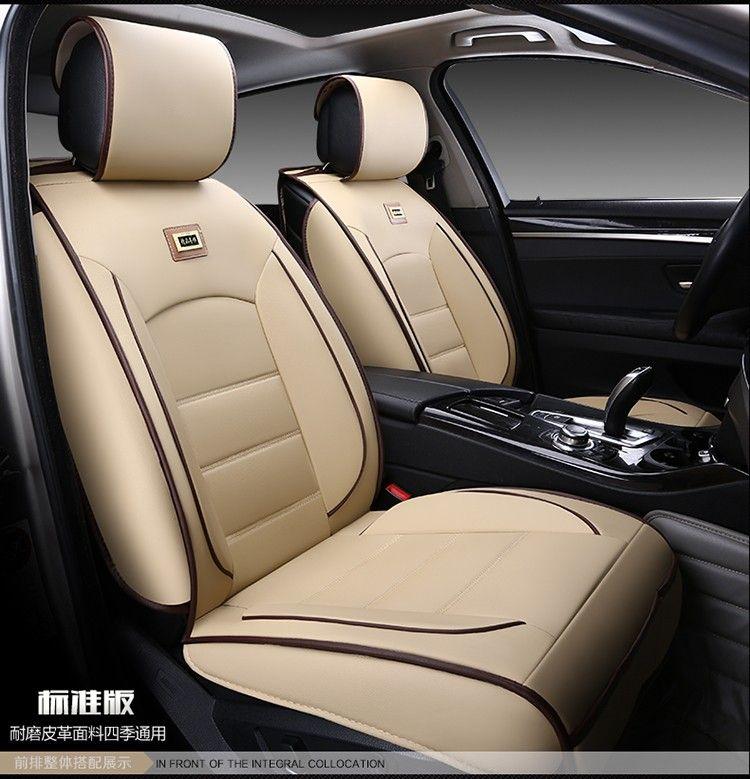 For Volkswagen Vw Polo Golf Fox Beetle Passat Tiguan Wear Resisting Waterproof Leather Car Seat Covers Fron Leather Car Seat Covers Car Seats Leather Car Seats