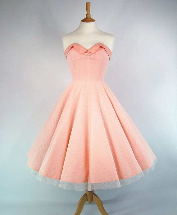 Made To Measure Full Circle Skirt Peach Cotton And Lace