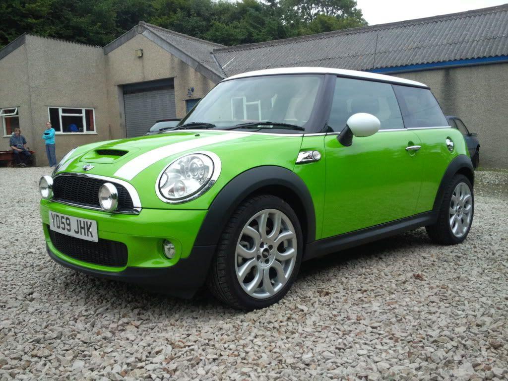 Lime Green Cooper Mini Transportation Pinterest Mini Cars And
