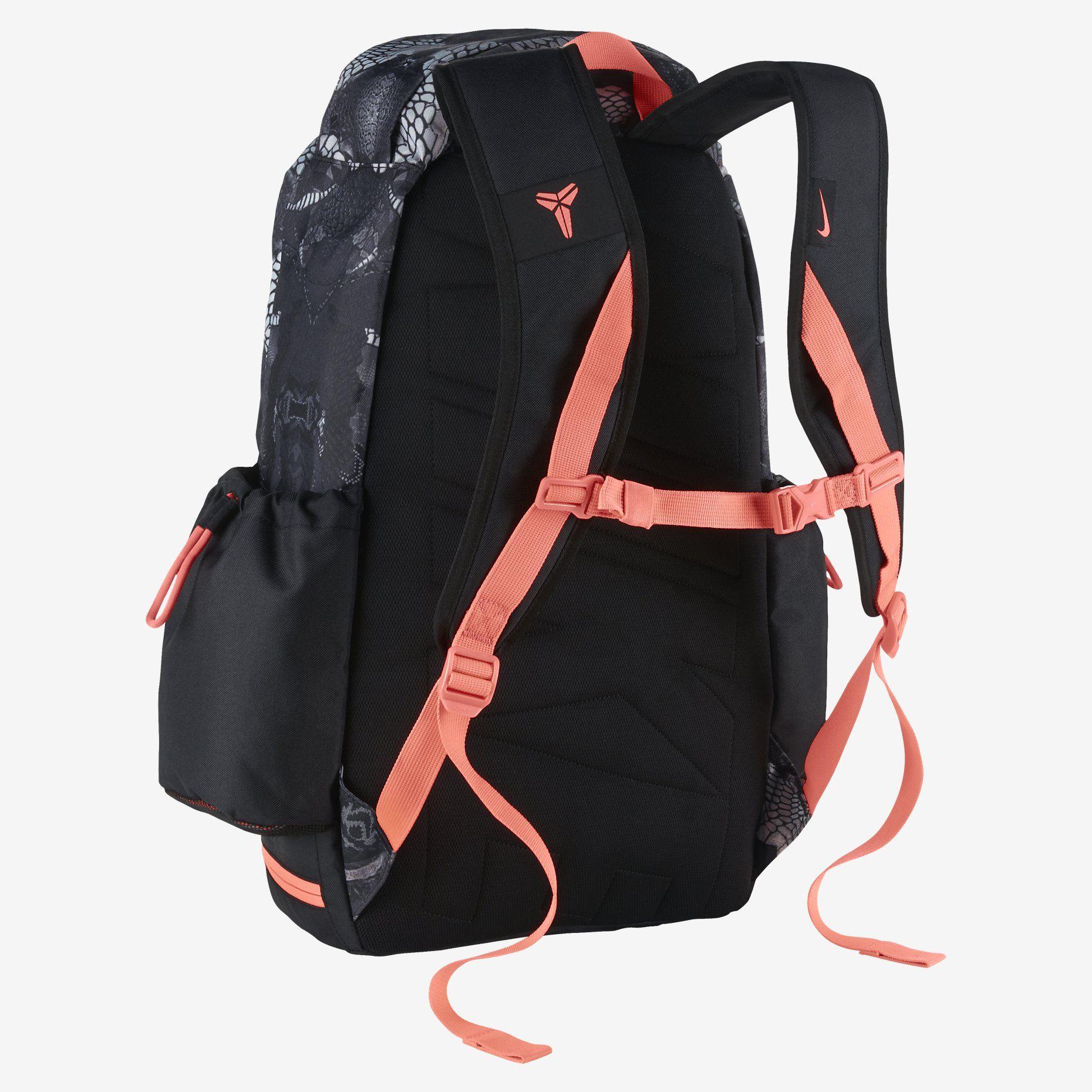 Nike Kobe Mamba Basketball Backpack Dove Grey Black Hot Lava