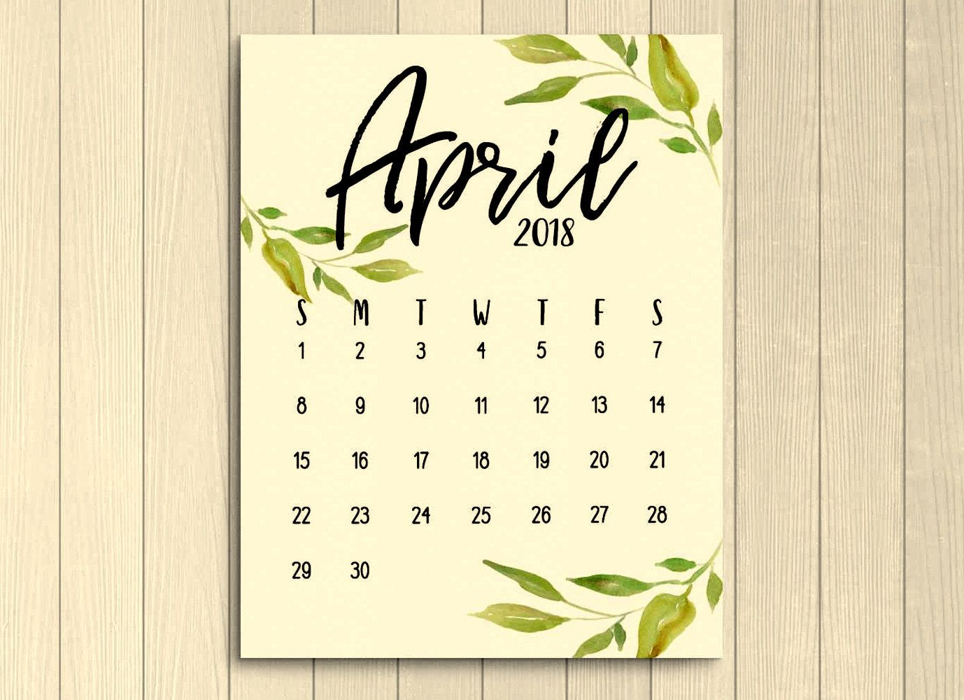 April 2018 Calendar Wallpaper 2018 Calendars Pinterest