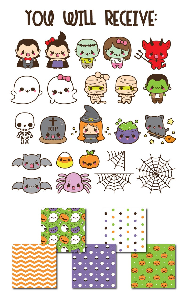 Halloween clipart kawaii halloween clip art kawaii ... (794 x 1266 Pixel)