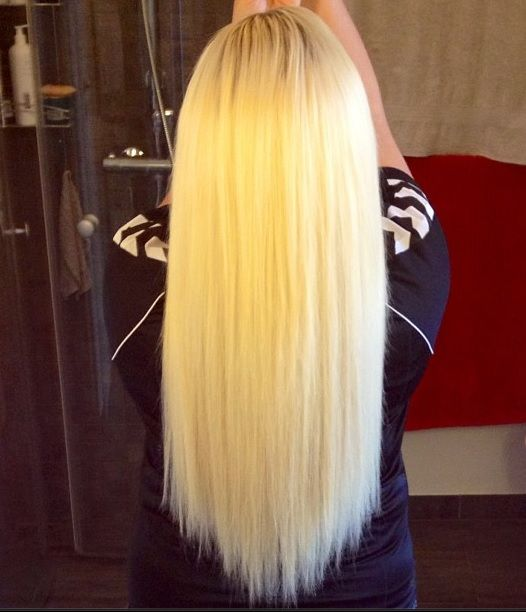 Long platinum blonde hair extensions lush