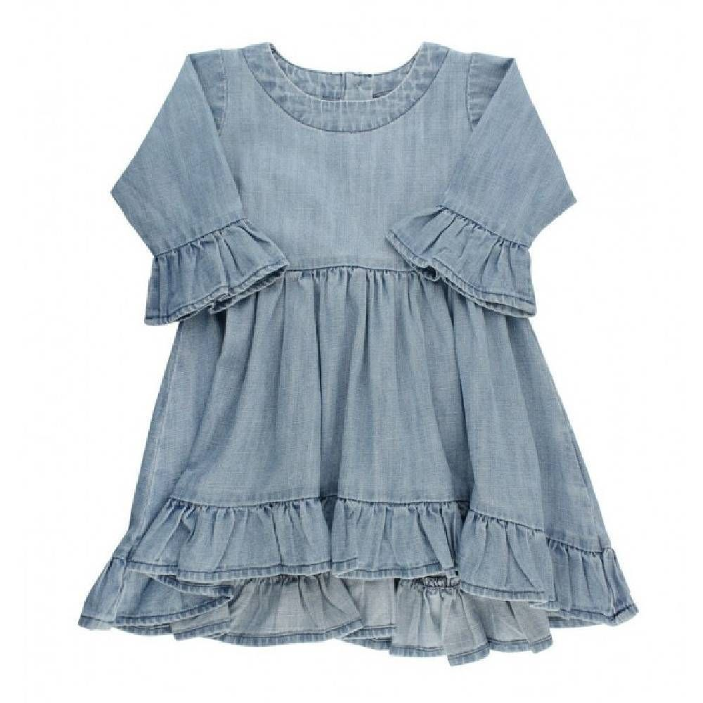 Ruffle Butts Denim High Low Tunic In 2021 Girls Denim Dress Girls Denim Clothes [ 1000 x 1000 Pixel ]