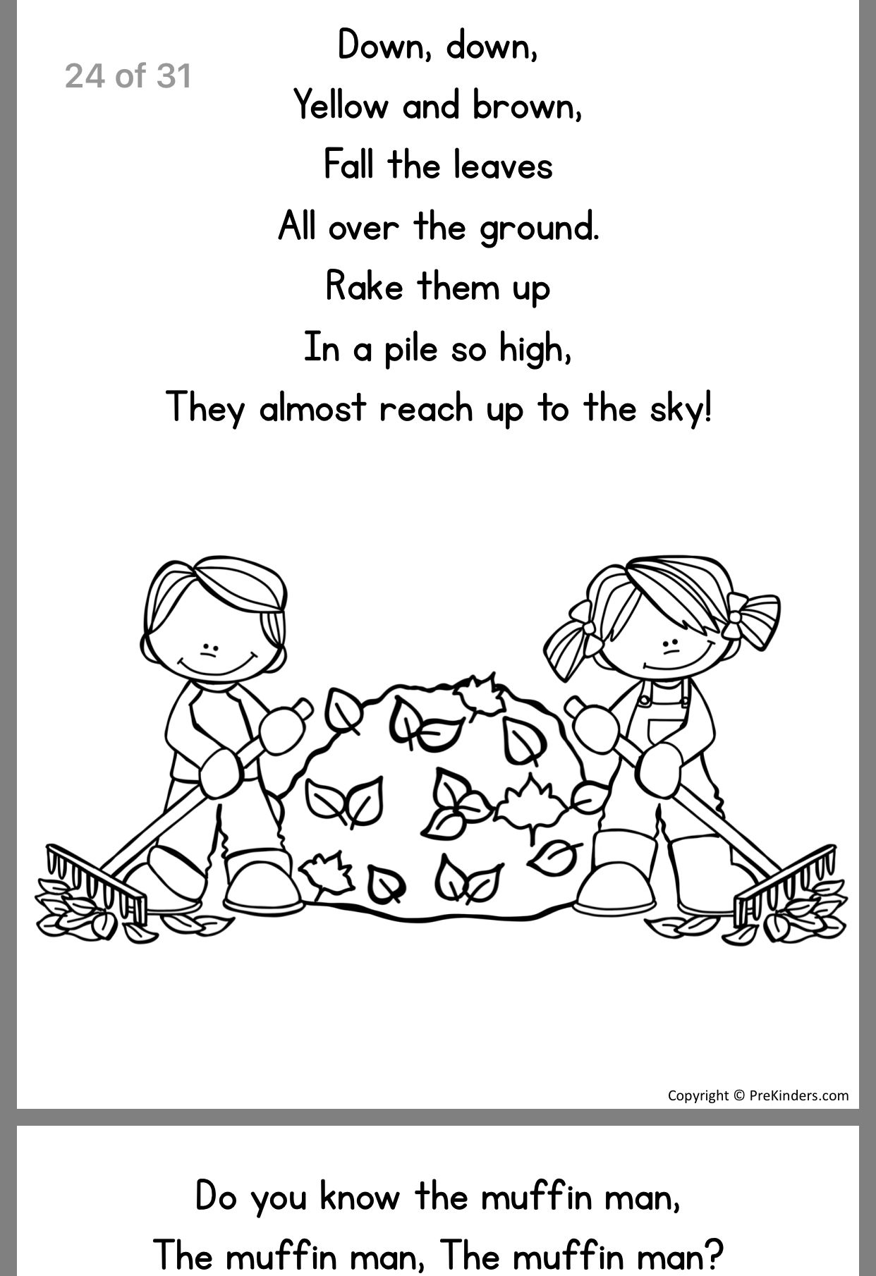 Do You Know The Muffin Man Nursery Rhyme Sheet Coloring Pages