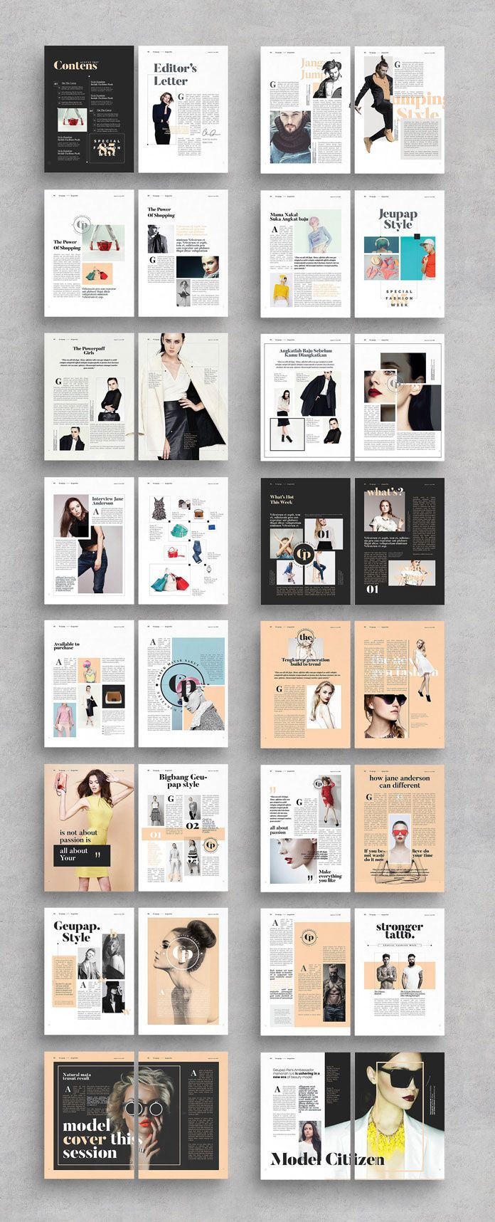 Adobe Indesign Magazine Template From Alfianbrand Design