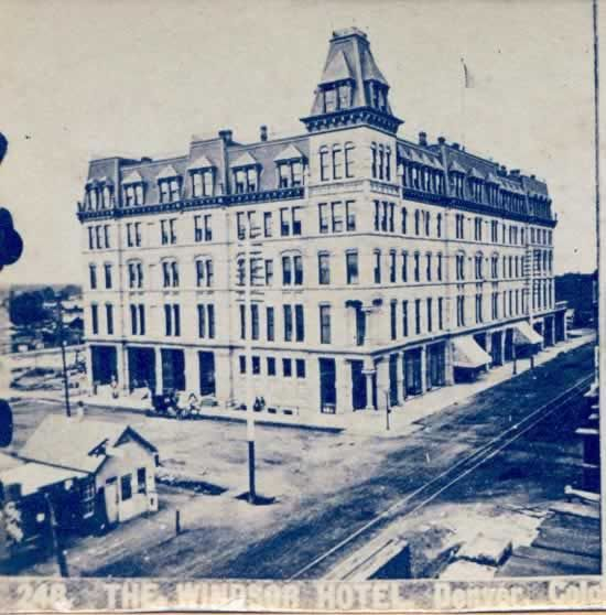 Windsor Hotel Denver Co Late 1800 S Hotels In Larger Cities Had Many