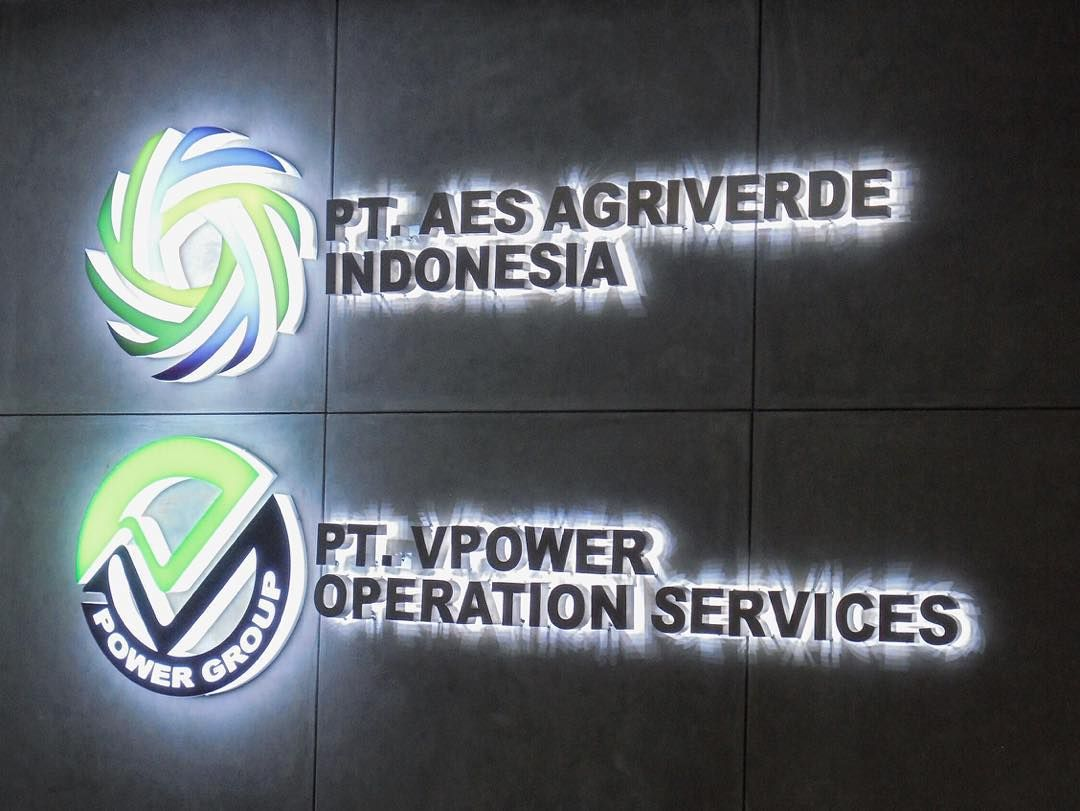 Signages project for PT AES AGRIVERDE INDONESIA & PT VPOWER OPERATION SERVICES #photo #photooftheday #picoftheday #instapic #instagood #signage #designersociety #led #light #awesome #fun #design #architecture #jj #igers #job #sign #lasercut #glow #tagsforlikes #followme #logo #awesome #amazing #bestquality by designersociety