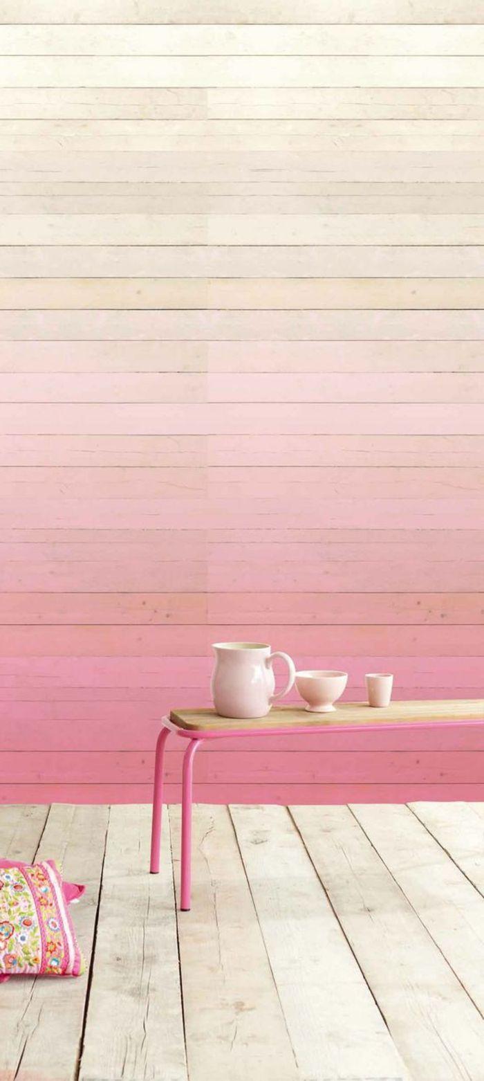 Pintar Paredes Pared De Madera En Colores Rosa Pastel Estilo  ~ Formas De Pintar Paredes Interiores