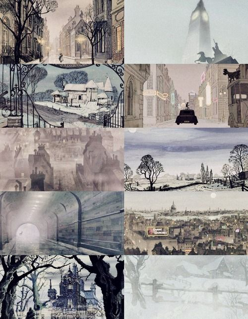 101 Dalmatians Scenery England In Blue Disney Concept Art Disney Art Concept Art
