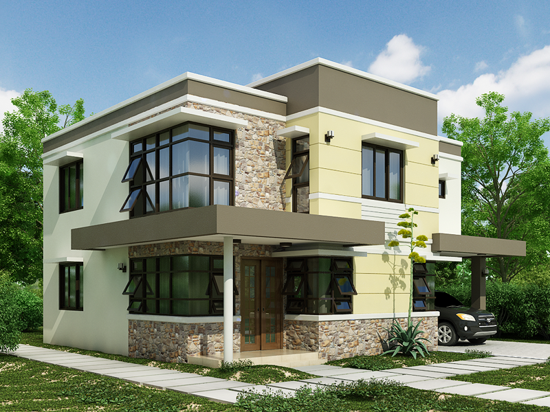 Painting Home Exterior Model Design Picture 2018