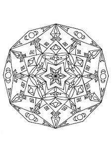 Mandalas Para Pintar: Mandala cósmico